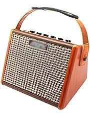 Zyj 15W Altavoz acústico portátil Amplificador de Guitarra batería Recargable incorporada con Interfaz de micrófono Altavoz de Guitarra