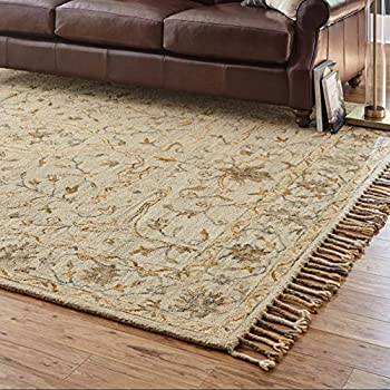 Amazon Com Stone Amp Beam Vero Medallion Wool Area Rug 8