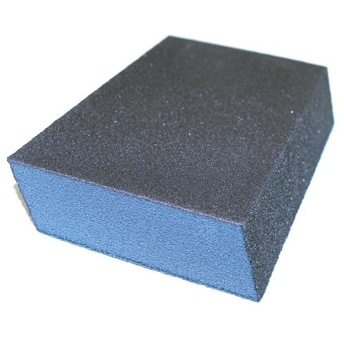 Dual Angle Drywall Sanding Sponges - Medium Grit - 24 Count Contractor Pack by Johnson Abrasives