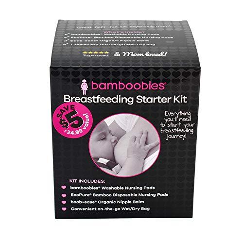 Bamboobies Breastfeeding Starter Kit, Great Baby Shower Gift, Hospital Bag Must Have