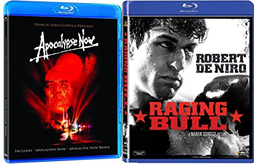 Apocalypse Now + Raging Bull Martin Scorsese Blu Ray 2 Pack War Movie Action Set (Apocalypse Now / Apocalypse Now: Redux) Francis Ford Coppola