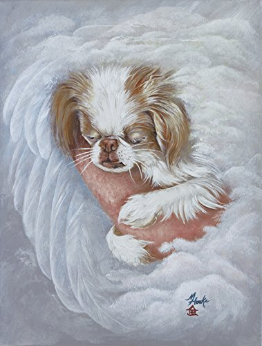 Caroline's Treasures MH1037GF Japanese Chin in an Angels Arms Flag, Small, Multicolor Review