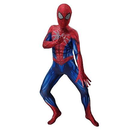 YIWANGO Adulto del Niños Disfraz De Spiderman Impresión Digital 3D ...