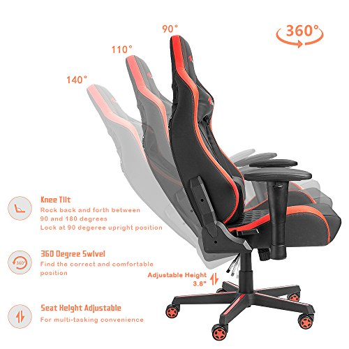 ... Version]Homall Executive Swivel Leather Gaming Chair, Racing Style  High Back ...