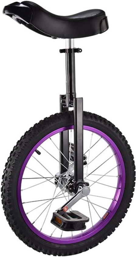 Monocycle De Cirque OFFA 16 Pouces Monocycle Enfants Adultes Monocycle Hauteur Dassise R/églable Skidproof Couleur Butyl Pneus Mountain /Équilibre Cyclisme V/élo Fitness