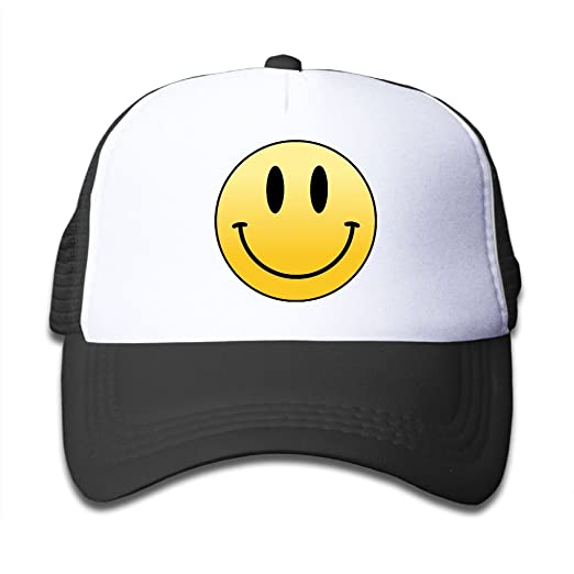 46a5106098e0f Mesh Baseball Cap Sun Hat Kids Cap Smiling Face Adjustable Boy Girls