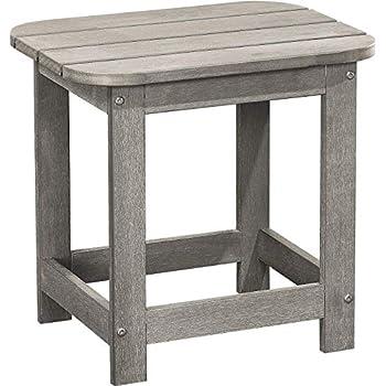 Amazon Com Polyteak Compact Side Table Stone Gray