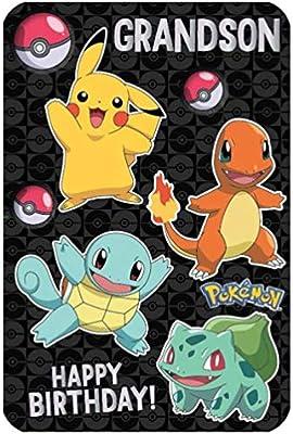 Pokemon Nieto Anime Grande Tarjeta de Cumpleaños 250589 ...