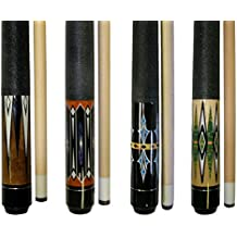 Lot of 4-58 2 Piece Hardwood Canadian Maple Pool Cue Billiard Table Stick 18-21 Oz With Steel Joint