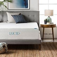 Lucid 14 Inch Mattress, Triple-Layer, 5.3 Pound Density Ventilated Memory Foam, CertiPUR-US Certified, 25-Year Warranty, Queen