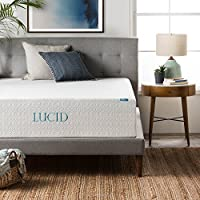 LUCID 14 Inch Memory Foam Mattress - Triple-Layer - 5.3 Pound Density Ventilated Gel Memory Foam - CertiPUR-US Certified - 25-Year Warranty - Queen