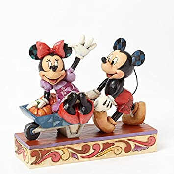 Jim Shore for Enesco Disney Traditions by Harvest Mickey and Minnie Figurine, 5.75-Inch
