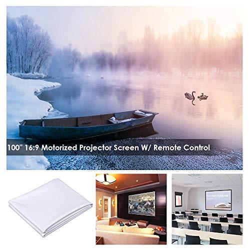 "Yescom 100"" Diagonal 16:9 DIY Projector Screen Fabric PVC Foldable 54""x92"" 2.5 Gain 3D 4K HD for LCD DLP HDTV"