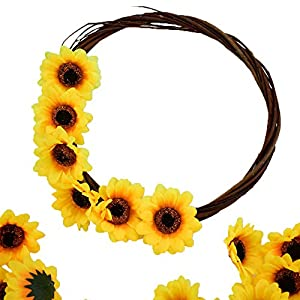 """HUIANER 100PCS Artificial Sunflower Heads, 2.8"""" Fake Simulation Sunflower Head for Wedding Home Party Cake Decoration 4"""