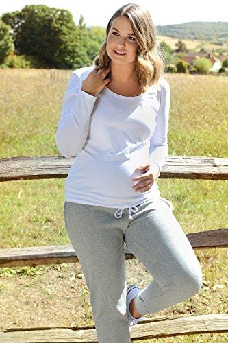 Elizabeth Brown Maternity Damen Relaxed Hose grau taubengrau