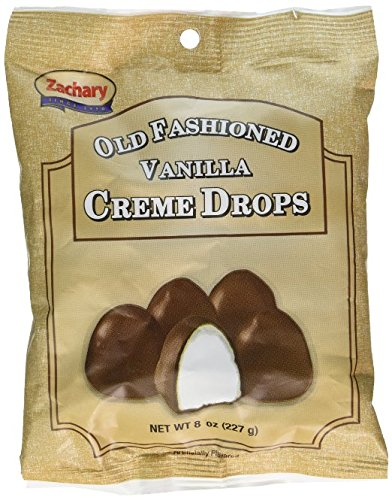 Zachary Old Fashioned Vanilla Creme Drops, 8 Ounce (Pack of 3) (Creme Chocolates Filled)