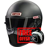 Simpson 6200038 Helmet, Flat Black, Large - Free Deluxe Helmet Bag Included