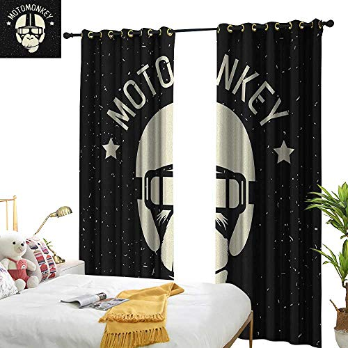 longbuyer Outer Space Thermal Insulating Blackout Curtain Sign