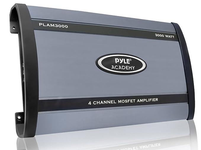 amazon com: pyle plam3000 3000 watts 4 channel bridgeable amplifier: car  electronics