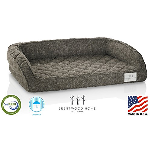 Brentwood Home Runyon Orthopedic Pet Bed, CertiPUR Gel Memory Foam Dog & Cat Lounge, Washable Cover,...
