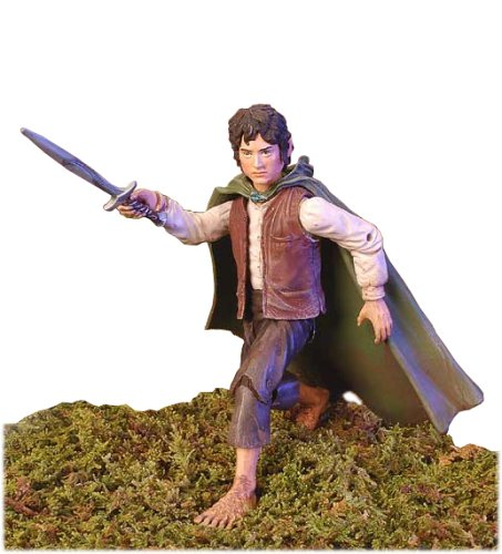 (Lord of the Rings Two Towers Action Figure Frodo with LightUp Sting Sword)