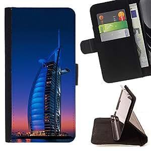 BullDog Case - FOR/HTC One M9 / - / Burj Dubai /- Monedero de cuero de la PU Llevar cubierta de la caja con el ID Credit Card Slots Flip funda de cuer