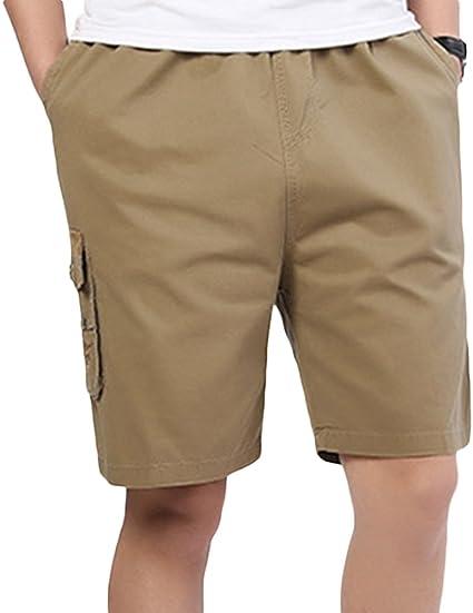 Sk Studio Hombre Algodon Bermuda Bolsillos Laterales Shorts Elasticos Tallas Grandes Cortos Pantalones Amazon Es Ropa Y Accesorios