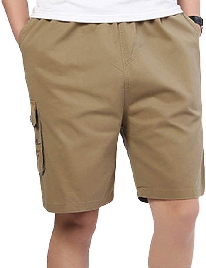SK Studio Hombre Algodon Bermuda Bolsillos Laterales Shorts ...
