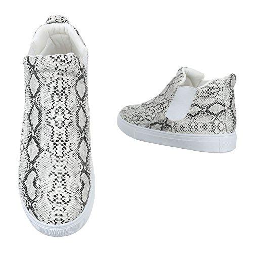 Sintético Material mujer Ital de gris Design para Zapatillas nttxqIrO