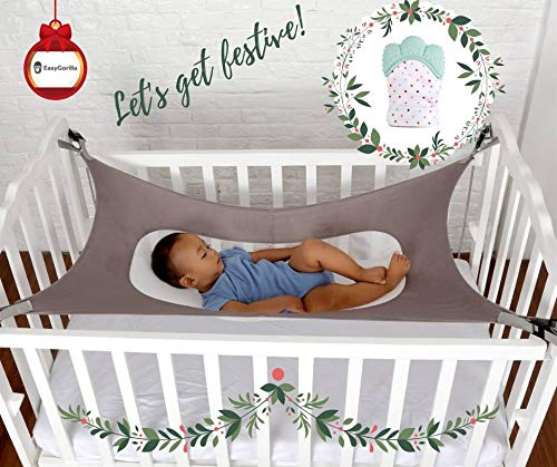 Baby Crib Hammock by Easy Gorilla - Newborn Bed Sleeping Essentials for Boys and Girls - Breathable and Portable - Infant Sleep Comfort Gifts for Indoor Cot - Cradle - Safety Mesh Nursery Nap Hammocks by EasyGorilla (Image #7)