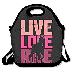 SUNG916 Live Love Ride Horse Reusable Lunch Bags