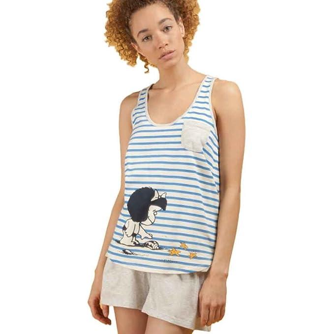 GISELA Pijama de Mujer con Estampado Mafalda 2/1495: Amazon.es: Ropa y accesorios