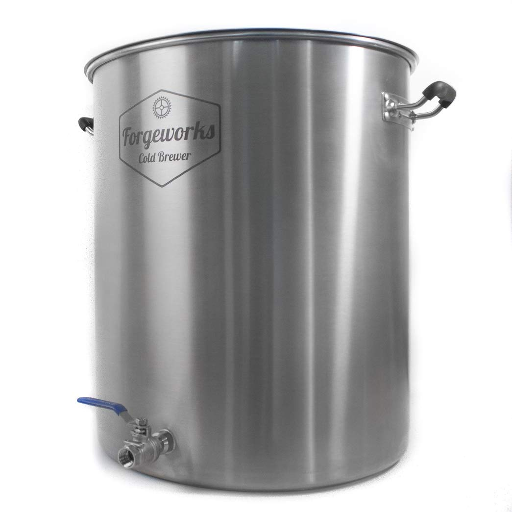 Forgeworks Cold Brewer - Commercial 20 Gallon Capacity Stainless Steel Cold Brew Vessel