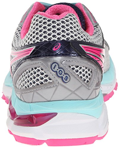 Asics Womens Gt-2000 3 Scarpa Da Trail Running Lightning / Hot Pink / Navy 5 B - Media