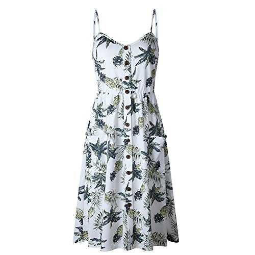 Yellow Neck V Midi Backless Button S Down Dresses Summer Front Line Tie A Dress Women's White Swing 7qIw6XI