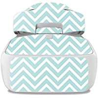 Skin For DJI Goggles – Aqua Chevron   MightySkins Protective, Durable, and Unique Vinyl Decal wrap cover   Easy To Apply, Remove, and Change Styles   Made in the USA