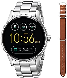 Fossil Q Marshal Gen 2 Limited Edition Cory Richards Stainless Steel & Brown Leather Touchscreen Smartwatch Set Ftw2120set