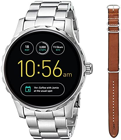 Fossil Q Marshal Gen 2 Limited Edition Cory Richards Stainless Steel and Brown Leather Touchscreen Smartwatch Set (Fossil Limited Edition)