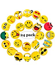 Emoji Fridge Magnets 24 Pack Refrigerator Magnets With Funny Kitchen Decor Noticeboard Office Supplies Best Housewarming Home Decorations Gift