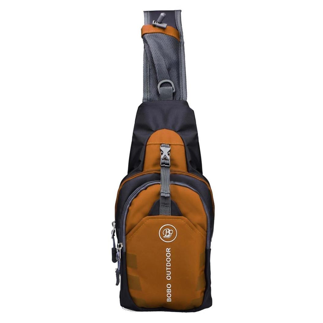 Tonsee® Hommes Sac à bandoulière sac à dos pour sports voyage randonnée (Vert)