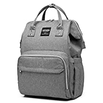 Diaper Bag Backpack 26L with USB Charging Port, Waterproof Nappy Changing Backpack with 3 Bottle Insulated Pocket for Mom/Dad, Multifunction Travel Backpack Bag with Stroller Straps