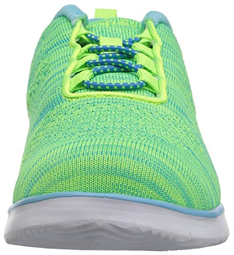Propét Women's TravelFit Walking Shoe Lime/Blue cheap real clearance find great discount new ORyUkMa6