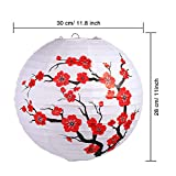6 Pack Chinese Japanese Red Cherry Flowers Paper