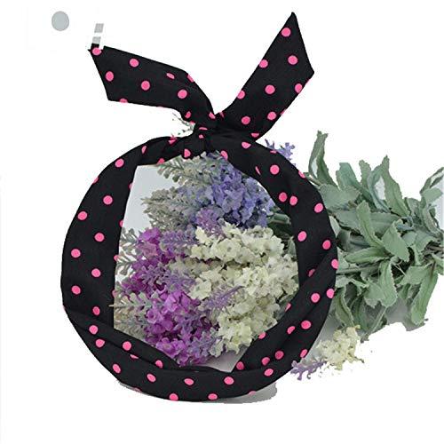 - 1Pc Cute Leopard Dots Lip Print Flower Bunny Rabbit Ear Ribbon Headwear Hairband Metal Wire Scarf Headband Hai