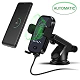 Wireless Charger Car, Automatic Induction Car Holder Mount, Fast Wireless Car Charger for Samsung Galaxy S9/S9Plus, S8 Plus/S8, S7/S7 Edge, Note 5, Standard Charge for iPhone X, 8/8 Plus
