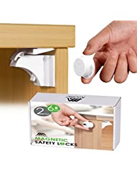 Adoric Life Magnetic Cabinet Locks Drawer Locks for Child Safety (6 Locks + 2 Keys) - Baby Proofing Cabinet Locks with 3M Adhesive Tape Easy To Install BOBEBE Online Baby Store From New York to Miami and Los Angeles