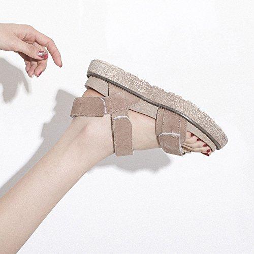 Plateauschuhe Flache Fashion Schuhe Universal Student QQWWEERRTT Sommer Sandalen Vintage Frauen Neue Weiblichen wzqIO4