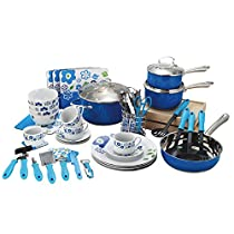 Veica,Highly Durable,59 Pieces Stainless-Steel Cookware Set,Kitchen Gadgets,Blue