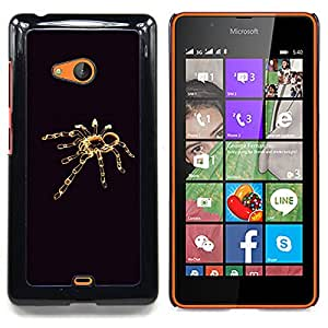SKCASE Center / Coque Housse Case Etui Cover - Tarantula minimaliste noir - Nokia Lumia 540