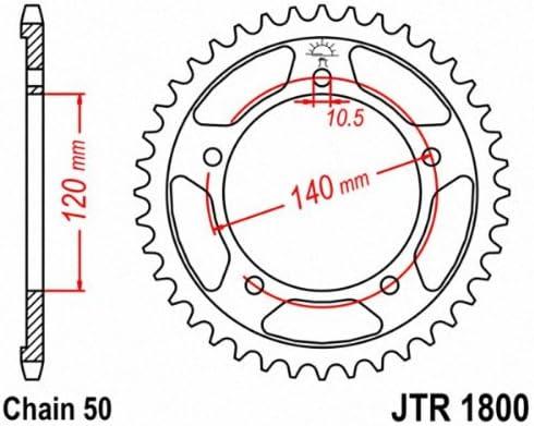 JT Sprockets Steel Rear Sprocket 44T 530 JTR1800.44